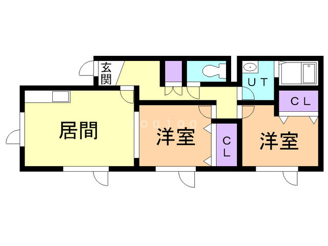 Can.Coope 東館 202 間取り図
