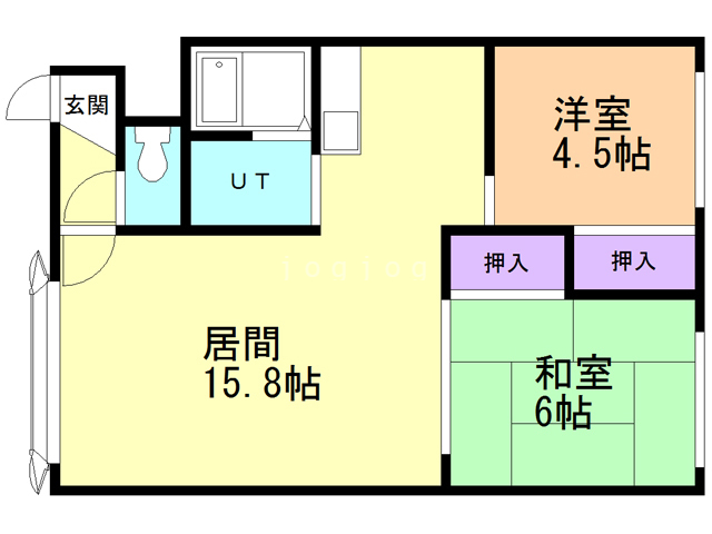 WEST house2 D 間取り図
