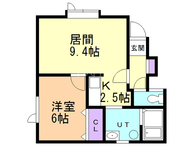 3rd RESIDENCE 201 間取り図