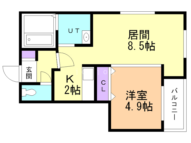 PERFECT PARTNER RESIDENCE A棟 105 間取り図