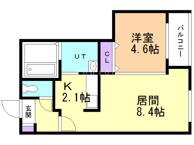 PERFECT PARTNER RESIDENCE A棟 206 間取り図