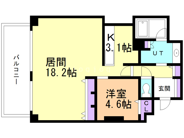函館MARKS THE TOWER 902 間取り図