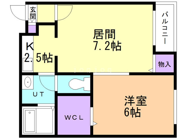 Contrail高台 101 間取り図